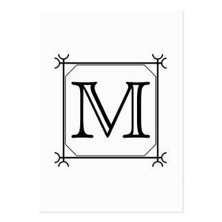 Su letra. Monograma de encargo. Blanco y negro Tarjetas De Visita Grandes