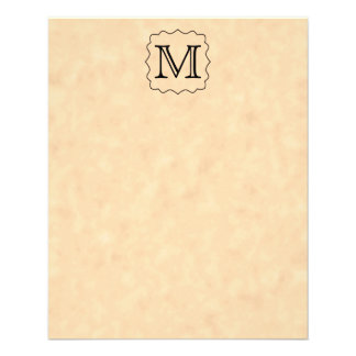 Su letra. Monograma de encargo. Negro y pergamino Tarjetones