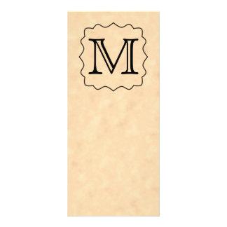 Su letra Monograma de encargo Negro y pergamino Tarjeta Publicitaria Personalizada