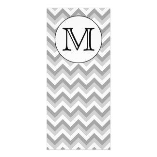 Su letra Monograma gris del modelo de zigzag Lonas