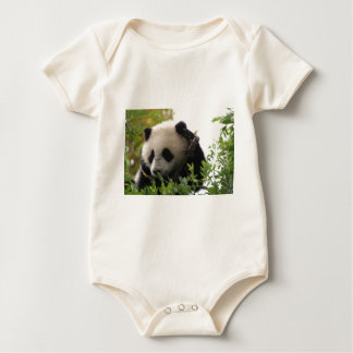 Su Lin, giant panda bear cub at the San Diego Zoo Baby Bodysuit