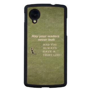 Su línea apretada de las aves zancudas el |; Cita Funda De Nexus 5 Carved® De Arce