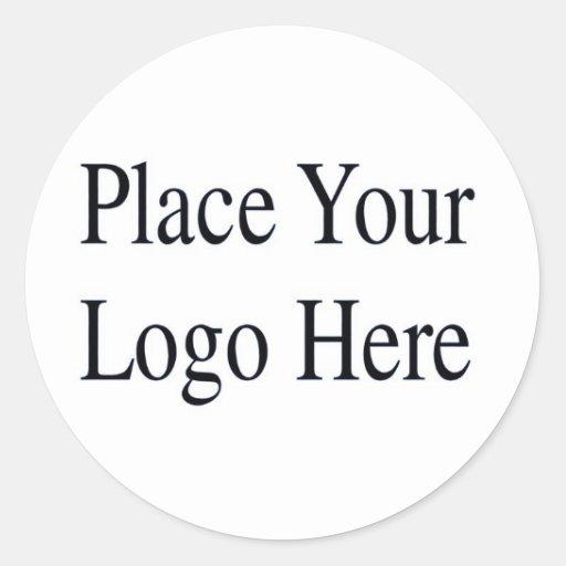 Su logotipo aquí etiquetas redondas