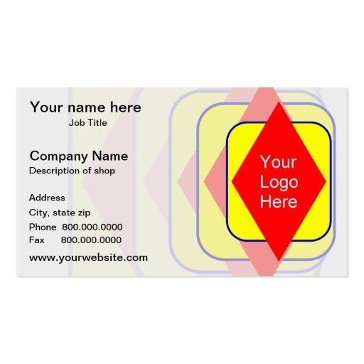 Su logotipo aquí tarjetas de visita