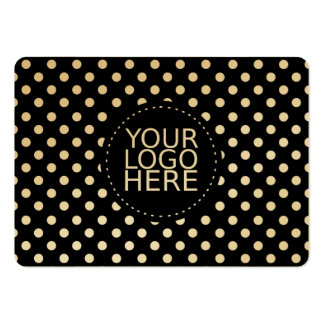 Su logotipo aquí y oro de los puntos tarjetas de visita grandes