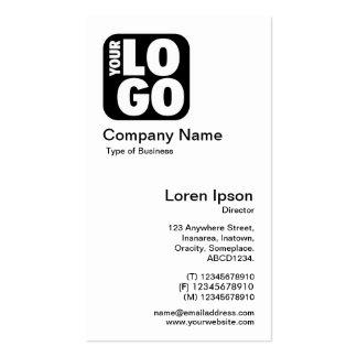 Su logotipo - blanco tarjetas de visita