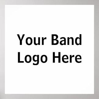 Su logotipo de la banda aquí póster