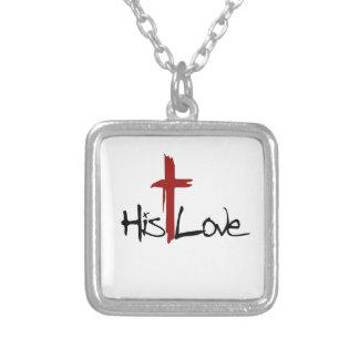 Su logotipo de la cruz del amor grimpolas personalizadas