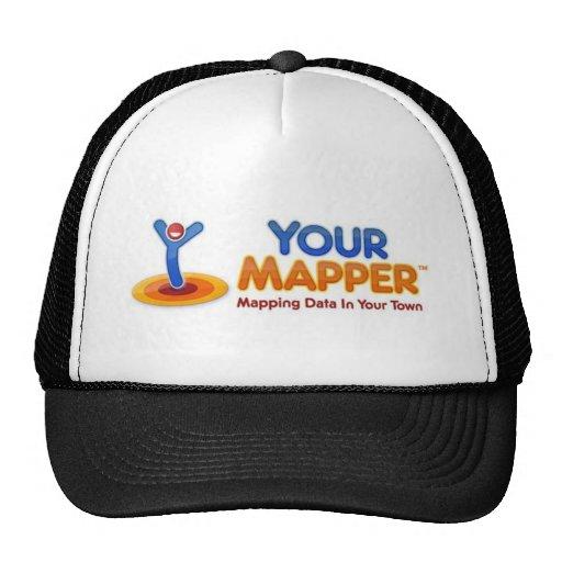 Su logotipo del cartógrafo gorras