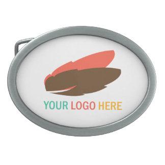 Su logotipo del negocio aquí que comercializa a la hebilla cinturon oval