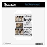 ¡Su lona de encargo del boda! Calcomanías Para iPod Touch 4G