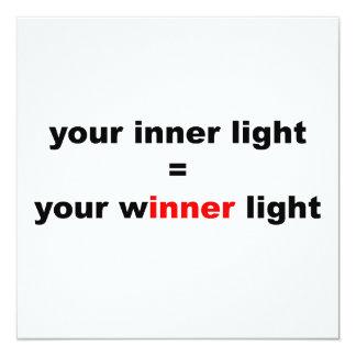 """Su luz del ganador invitación 5.25"""" x 5.25"""""""