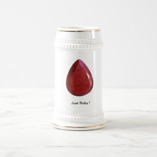 ¡Su mag del rubí! Tazas De Café