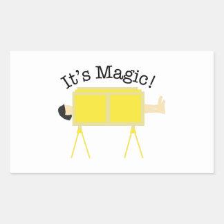 Su magia pegatina rectangular
