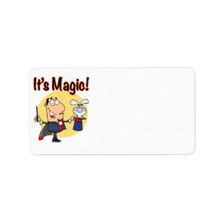 su mago tonto mágico etiqueta de dirección