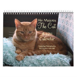 Su majestad el calendario del gato 2011