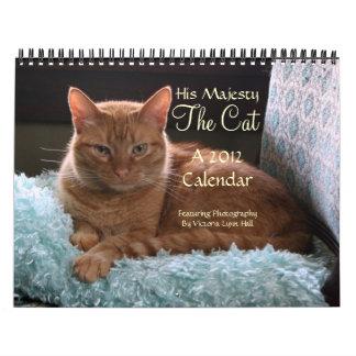 Su majestad el calendario del gato 2012