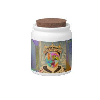 Su majestad jarras para caramelos