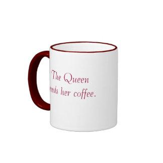 SU MAJESTAD la reina de Movie_The necesita su café Taza De Dos Colores