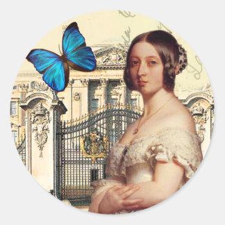 Su majestad, reina Victoria Etiquetas Redondas