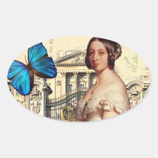 Su majestad, reina Victoria Colcomanias Oval
