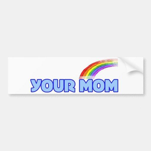 Su mamá etiqueta de parachoque