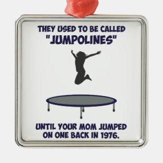Su mamá inventó el trampolín ornamentos de reyes