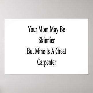 Su mamá puede ser más flaca pero la mina es un póster