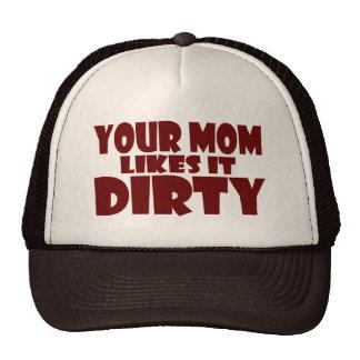 Su mamá tiene gusto de él gorra sucio del camioner