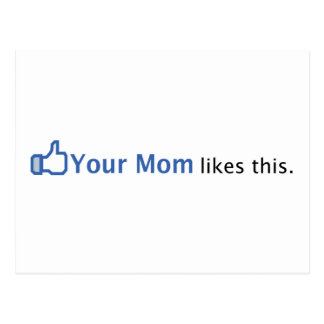 Su mamá tiene gusto de esto postales