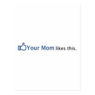 Su mamá tiene gusto de esto tarjetas postales