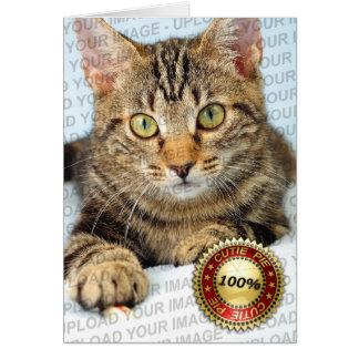 Su mascota lindo - tarjeta de felicitación