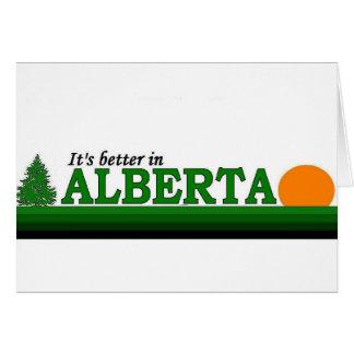 Su mejor en Alberta Tarjeta De Felicitación
