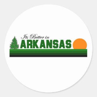 Su mejor en Arkansas Pegatina Redonda