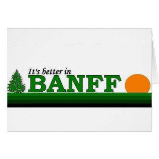 Su mejor en Banff Tarjeta De Felicitación