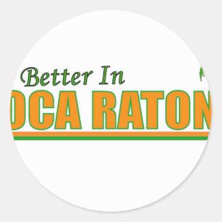 Su mejor en Boca Raton Pegatina