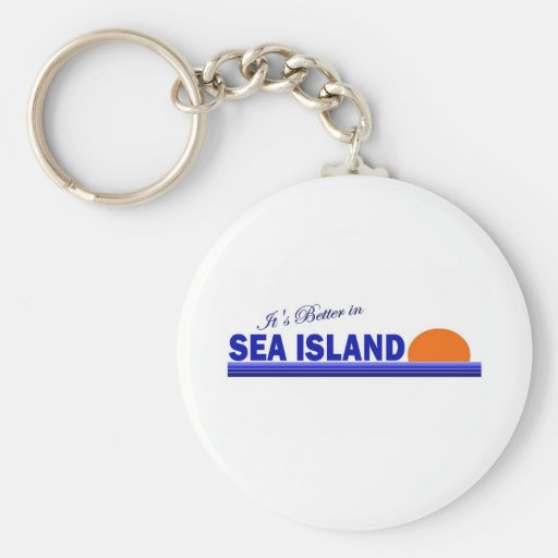Su mejor en la isla del mar, Georgia Llavero Redondo Tipo Pin