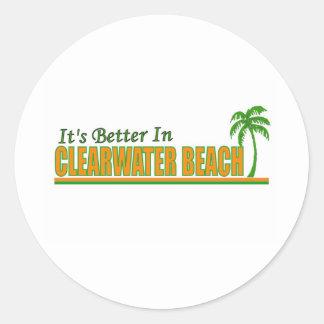 Su mejor en la playa de Clearwater Etiqueta Redonda