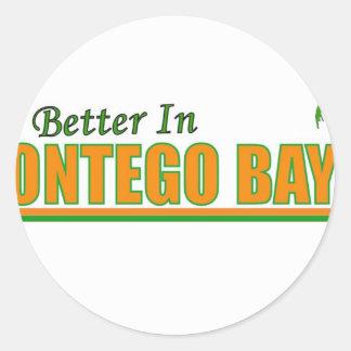 Su mejor en Montego Bay Pegatina Redonda