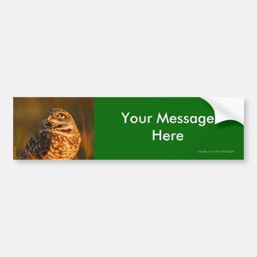 Su mensaje pegatina para auto