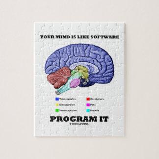 Su mente es como el programa informático él (el ce puzzle con fotos