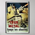 Su metal los guarda tiroteo posters