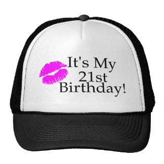 Su mi 21ro cumpleaños (beso) gorra