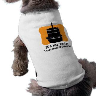 Su mi camisa divertida del perro del cumpleaños playera sin mangas para perro