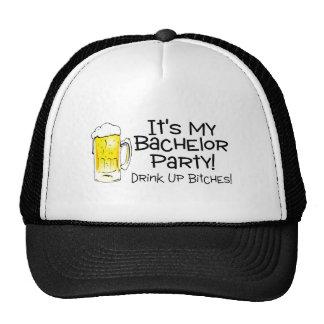 Su mi cerveza de la despedida de soltero gorro de camionero