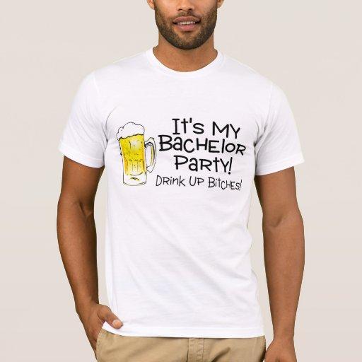 Su mi cerveza de la despedida de soltero playera