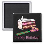 Su mi cumpleaños iman de frigorífico