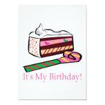 Su mi cumpleaños invitación 12,7 x 17,8 cm