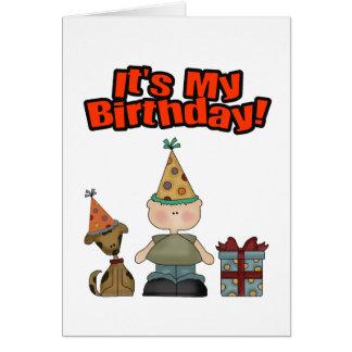 Su mi cumpleaños (MUCHACHO) Tarjeta De Felicitación