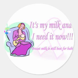 Su mi leche pegatinas redondas